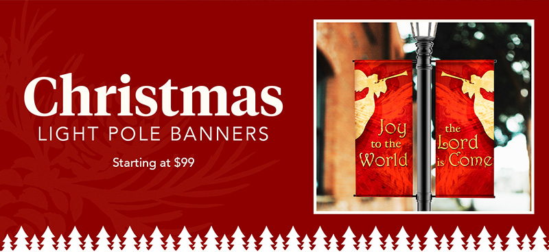 Christmas Light Pole Banner