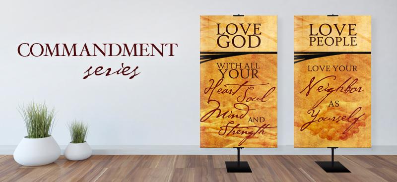 Church fabric banners