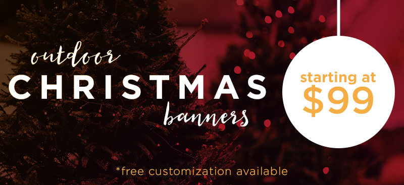 welcome christmas banner