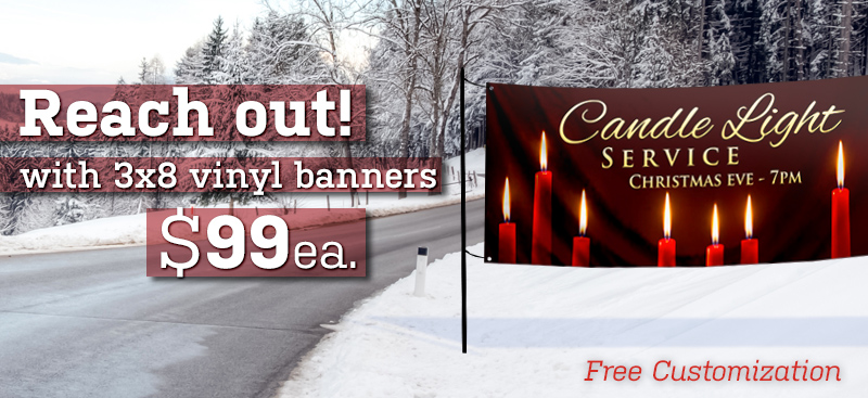 horizontal Christmas banners
