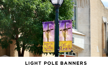parking lot banners for Easter