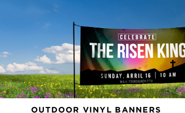 outdoor banners for Easter