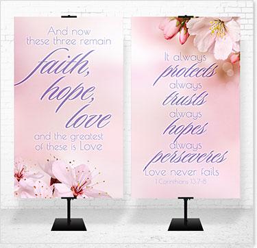 New Beginning Banners 3x5 Sets Wedding Jpg