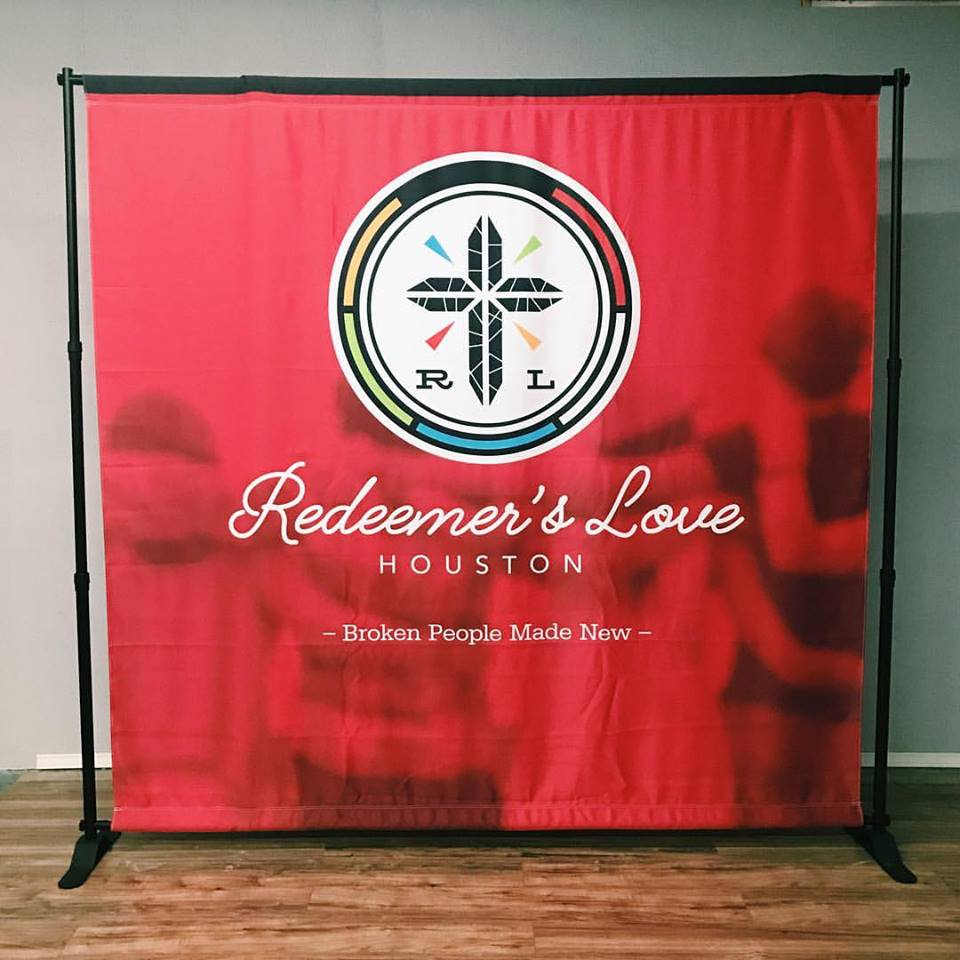 backdrop display for church