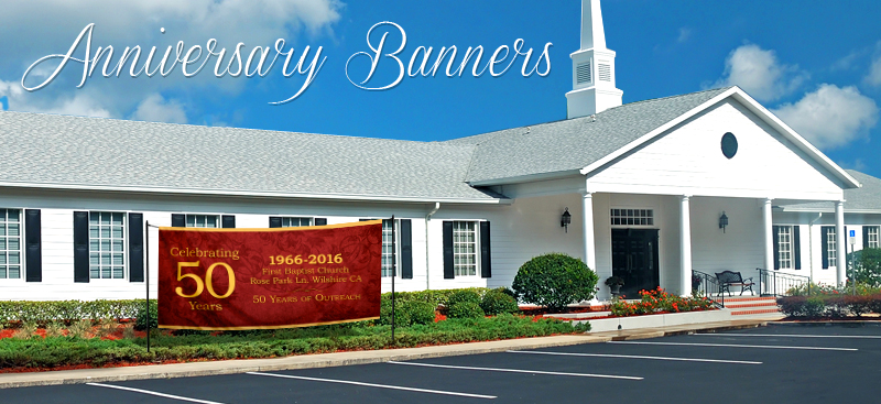 Church Anniversary Banners Church Banners Com