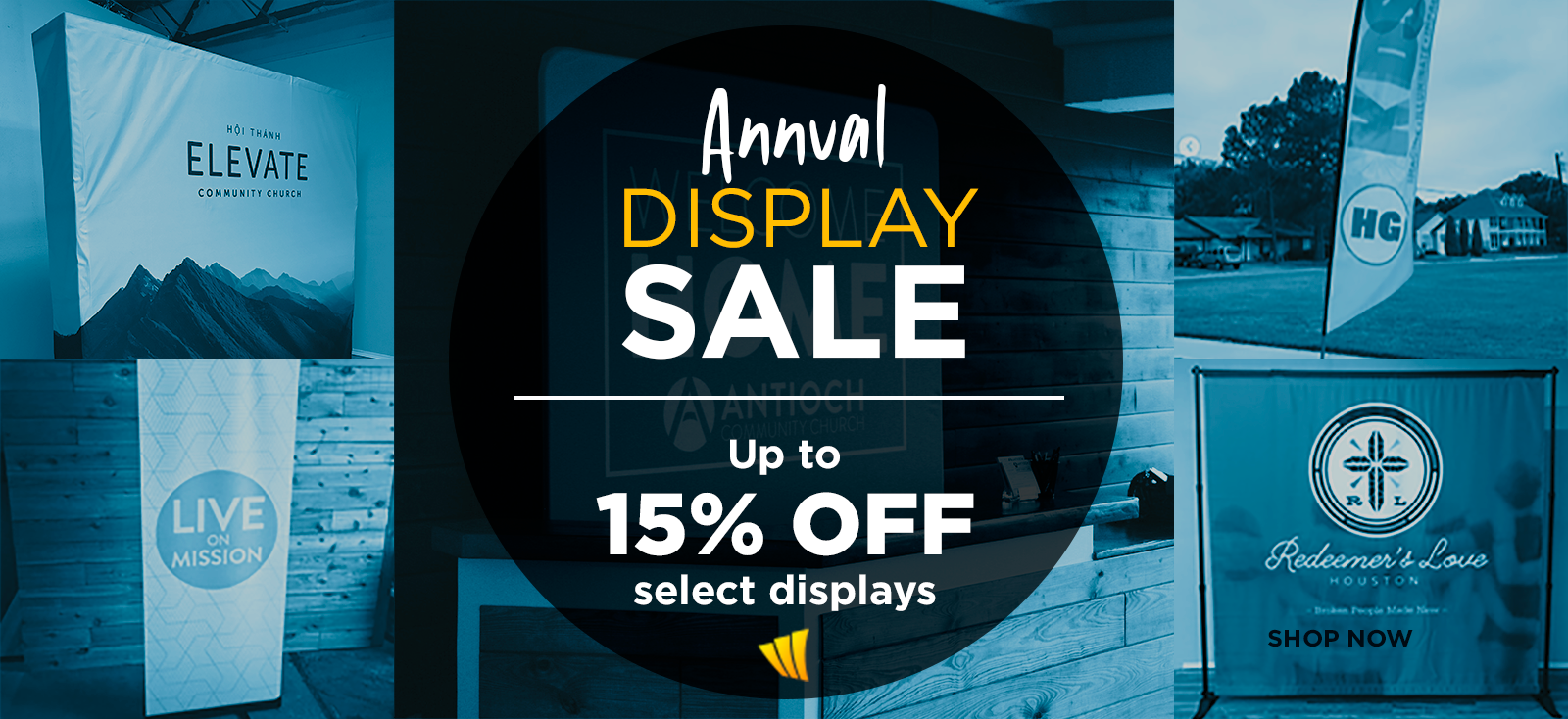ChurchBanners Annual Display Sale - Save up to 15% Off