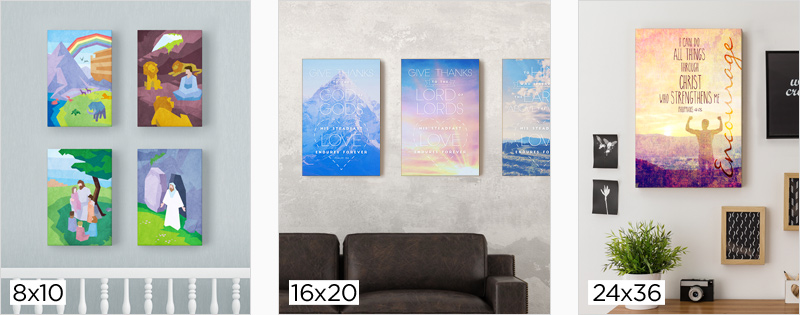 canvas in 3 sizes