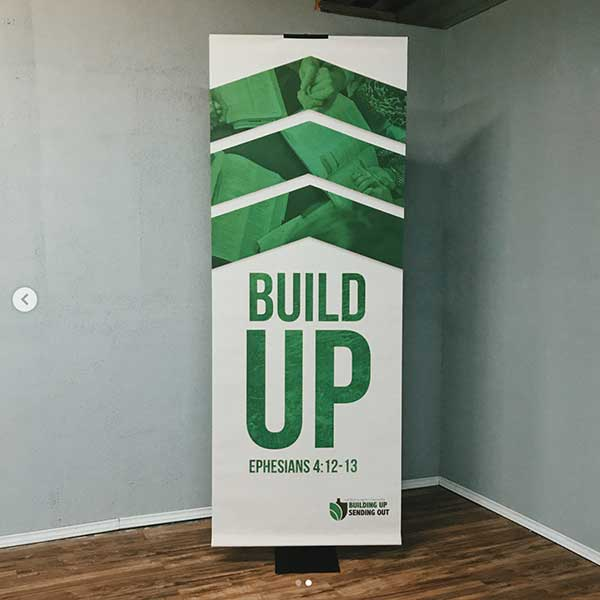 church banner for outreach