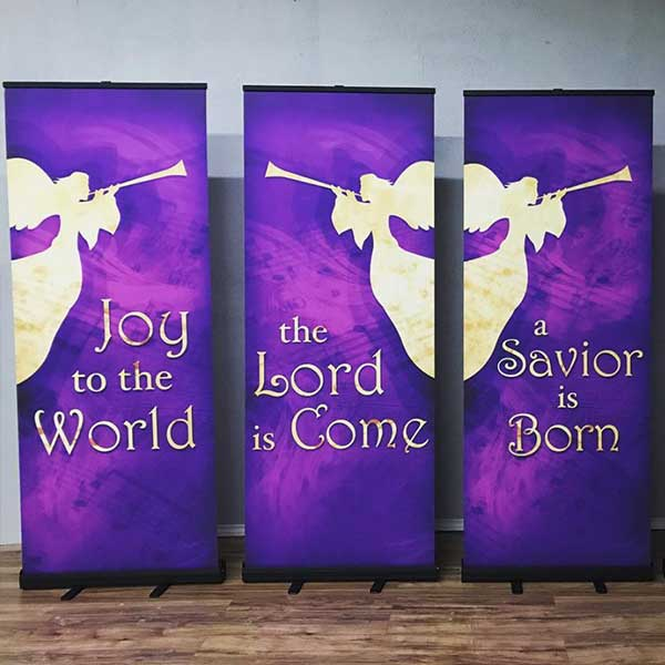 christmas banner display