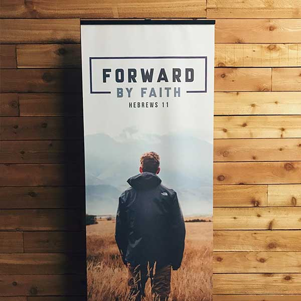 faith banner print