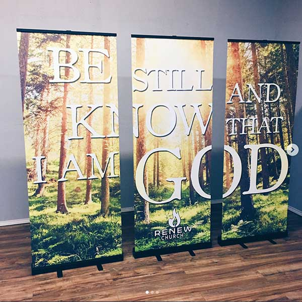 set of 3 church displays