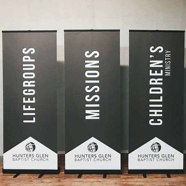 custom church popup banners