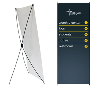 cheap banner display for church
