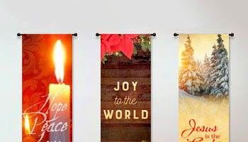 vertical christmas church banners