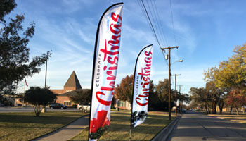 christmas feather flags for churches