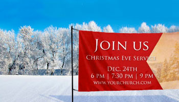christmas horizontal church banners