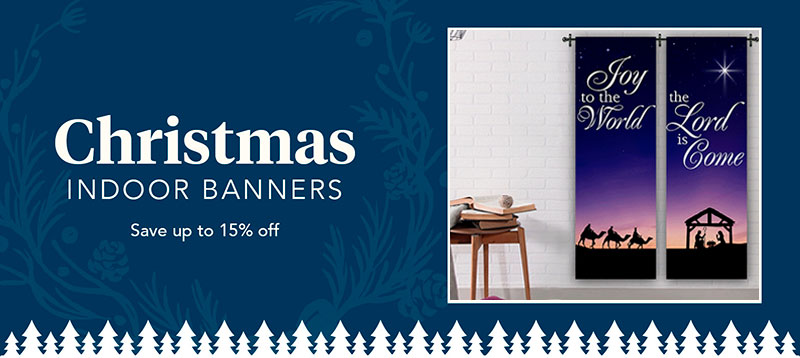 indoor Christmas banner sets