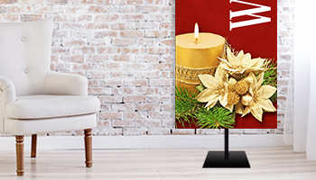Christmas vertical hanging banners