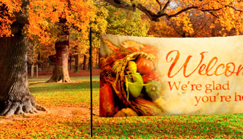 horizontal outdoor thanksgiving banners