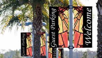 church light pole banners