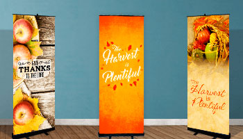 Church retractable pop up banners