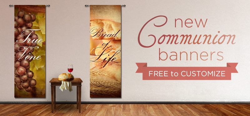 Communion Banners Fabric Christian Banners
