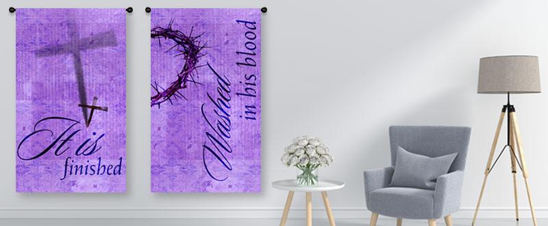 Easter indoor vertical banners
