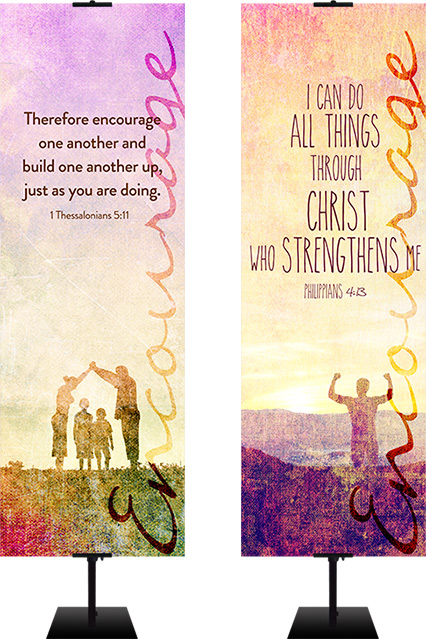 encouraging church banners