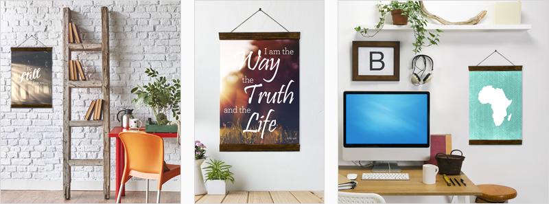 Fabric Poster Hangers | Christian Wall Art | Home Decor