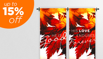 fall harvest banners to hang in church