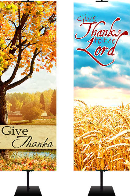 fall harvest banners for church