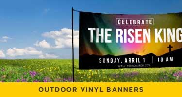 vinyl easter banners for outside