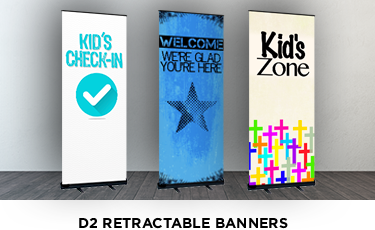 roll up banner solutions for kids checkin ministry
