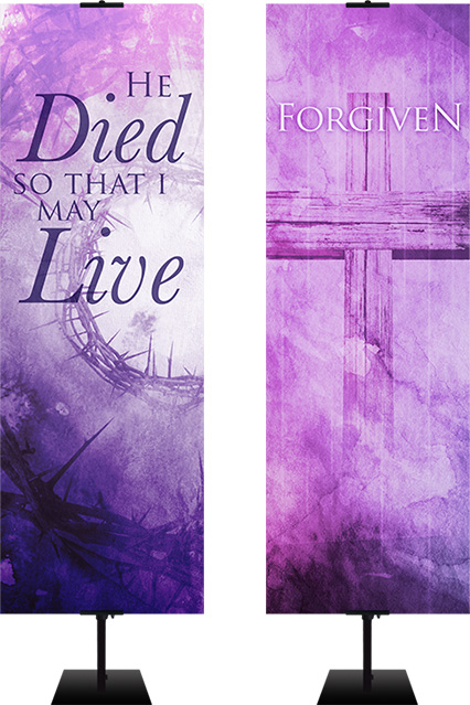 lent fabric banners