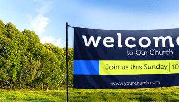 outdoor vinyl welcome banners