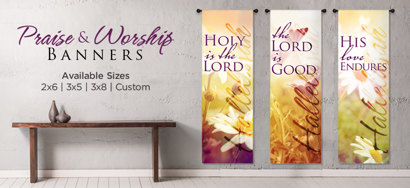 Praise And Worship Church Banners Contemporary Banner