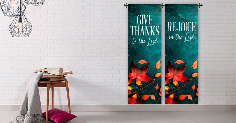 seasonal christian church banners