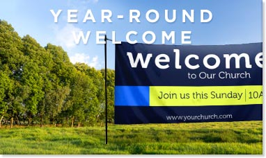 welcome church banner