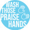 Praise Hands Circle Floor Decal - Adhesive Vinyl