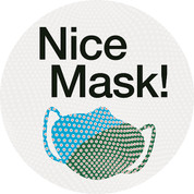 Nice Mask Circle Floor Decal - Adhesive Vinyl Sticker