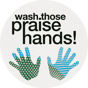Praise Hands Circle Floor Graphic - Adhesive Vinyl