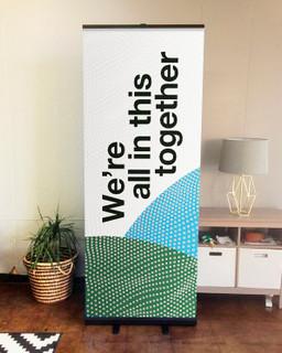 retractable indoor banner