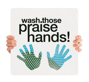 COVID ReOpen Handheld - Style 7 - Praise Hands