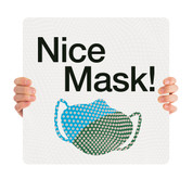 COVID ReOpen Handheld - Style 7 - Nice Mask