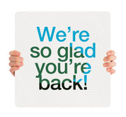 COVID ReOpen Handheld - Style 7 - Glad You're Back