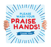 COVID ReOpen Handheld - Style 11 - Praise Hands