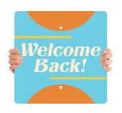 COVID ReOpen Handheld - Style 12 - Welcome Back
