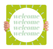 COVID ReOpen Handheld - Style 13 - Welcome