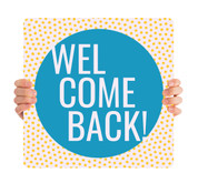 COVID ReOpen Handheld - Style 16 - Welcome Back