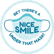 Nice Smile Circle Floor Decal - Adhesive Vinyl Sticker